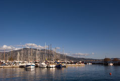 The marina in Kalamata. Picture of the marina in Kalamata, taken during a sunny afternoon Royalty Free Stock Photo