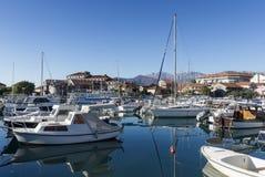 Marina Kalimanj. Città di Teodo, Montenegro Immagine Stock