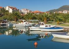 Marina Kalimanj Ciudad de Tivat, Montenegro Fotografía de archivo