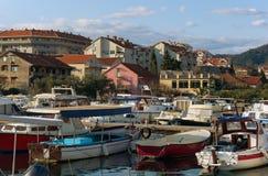Marina Kalimanj in Tivat city. Montenegro Stock Image