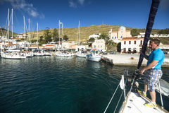 Marina of Kea Greek island Stock Photos