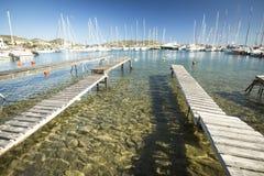Marina of Kea Greek island Royalty Free Stock Image