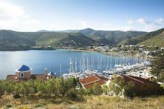 Marina Kea, jest Greckim wyspą w Cyclades archipelagu w morzu egejskim Obraz Stock