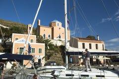 Marina Kea, jest Greckim wyspą w Cyclades archipelagu w morzu egejskim Obrazy Stock