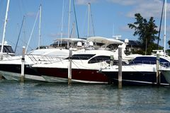 Marina in Key Biscayne Royalty Free Stock Image