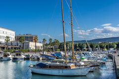 The marina in Koper a coastal town in Slovenia Stock Images