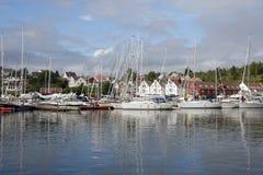Marina Kristiansand, Lillesand, Norway. Marina Kristiansand on a calm summer day Lillesand, Norway royalty free stock image