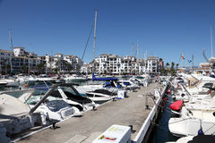 Marina in La Duquesa. Spain. Luxury yachts in port La Duquesa. Costa del Sol, Andalusia Spain. Photo taken at 13th August 2012 stock image