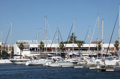 Marina in Lagos, Algarve Portugal Royalty Free Stock Image