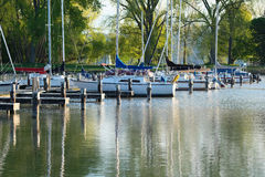 Marina on Lake Cayuga Stock Image