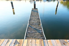 Marina on Lake Cayuga. At Ithaca, New York Royalty Free Stock Photo