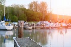 Marina on Lake Cayuga Stock Photos