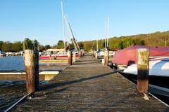 Marina on Lake Cayuga Stock Image