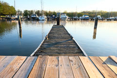 Marina on Lake Cayuga. At Ithaca, New York Stock Photography