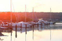 Marina on Lake Cayuga. At Ithaca, New York Royalty Free Stock Photos
