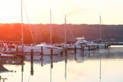 Marina on Lake Cayuga Royalty Free Stock Photos