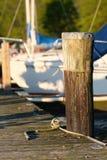 Marina on Lake Cayuga. At Ithaca, New York Stock Images
