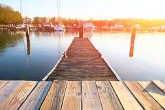 Marina on Lake Cayuga. At Ithaca, New York Royalty Free Stock Photography