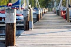 Marina on Lake Cayuga. At Ithaca, New York Stock Image