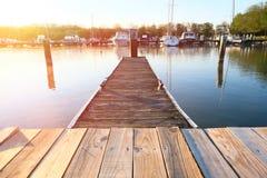 Marina on Lake Cayuga. At Ithaca, New York Royalty Free Stock Images