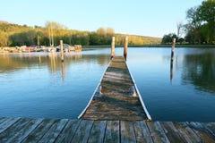 Marina on Lake Cayuga. At Ithaca, New York Stock Photos