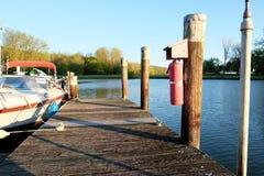 Marina on Lake Cayuga Stock Images