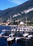 Marina on Lake Como, Tremezzo, Italy. Stock Photos
