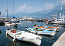 Marina at Lake Garda in Castelletto Royalty Free Stock Images