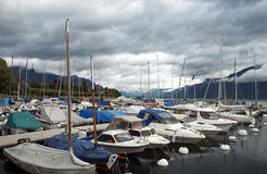 Marina on Lake Geneva Royalty Free Stock Photos