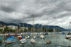 Marina on Lake Geneva Royalty Free Stock Photo
