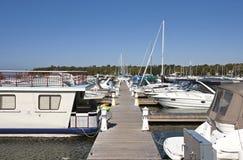 Marina on Lake Huron Royalty Free Stock Photos