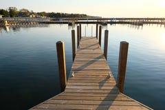 Marina on Lake Huron at Port Austin. MI, USA Royalty Free Stock Photography