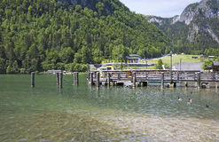 Marina on Lake Konigssee Royalty Free Stock Photography