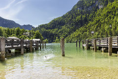 Marina on Lake Konigssee Stock Photo