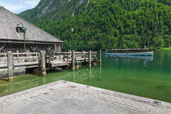 Marina on Lake Konigssee Royalty Free Stock Photos