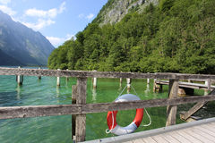 Marina on Lake Konigssee Stock Image