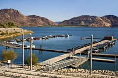 Marina at Lake Perris. This is a picture of the Marina at Lake Perris State Park at Moreno Valley, California. This is one of the most popular parks in Southern stock image
