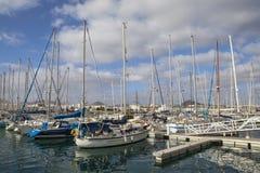 Marina Lanzarote in Arrecife stock fotografie