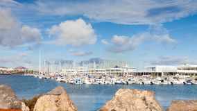 Marina Lanzarote in Arrecife, Lanzarote. The marina is located in the Spanish port city of Arrecife on the island of Lanzarote Stock Photos
