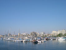 Marina in Larnaca, Cyprus Stock Photo