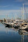Marina in Larnaca town. Cyprus Stock Photos