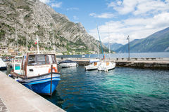 Marina in Limone Sul Garda Royalty Free Stock Photo