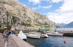 Marina in Limone Sul Garda Stock Photos
