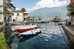 Marina in Limone Sul Garda Stock Image