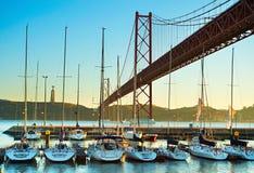 Marina in Lisbon, Portugal Stock Photos