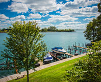Marina locale de Detroit Photo stock
