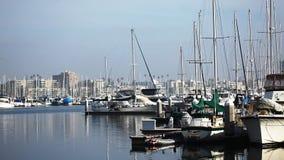 The Marina at Long Beach, California stock video