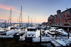 Marina at Long  Wharf Stock Image