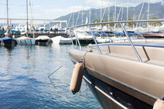 Marina with luxury boats Royalty Free Stock Photos