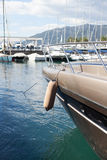 Marina with luxury boats Royalty Free Stock Image